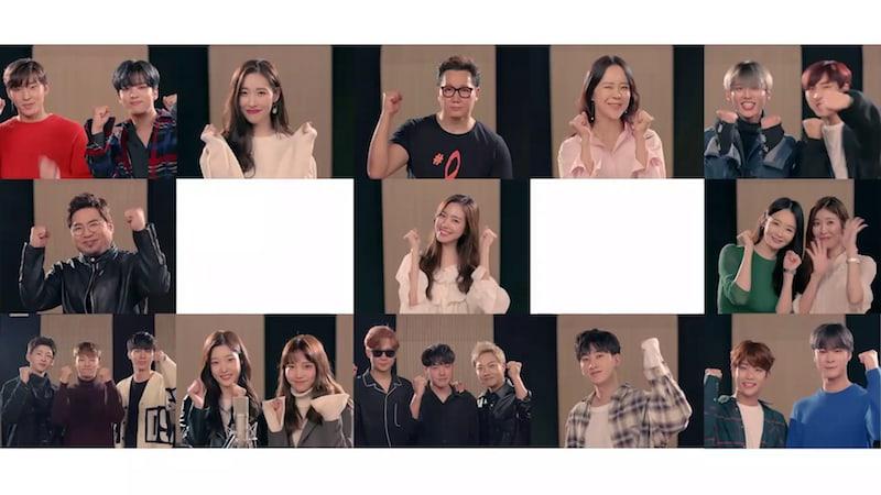 """Sunmi, Eunhyuk, B.A.P, ASTRO y más cantan """"Fly Day"""" para las Olimpiadas de Pyeongchang 2018"""