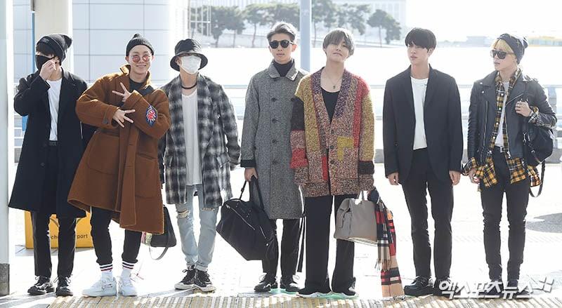 BTS parte hacia los Estados Unidos para sus apariciones en los AMAs y talk shows