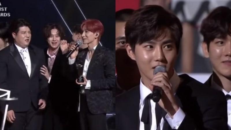 """Super Junior y EXO muestran su divertida química durante los """"2017 Asia Artist Awards"""""""
