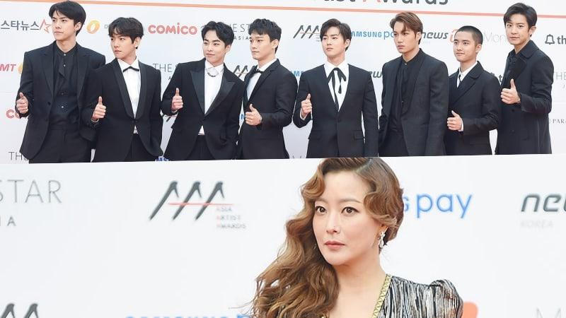 EXO y Kim Hee Sun se llevan a casa el Gran Premio en los 2017 Asia Artist Awards