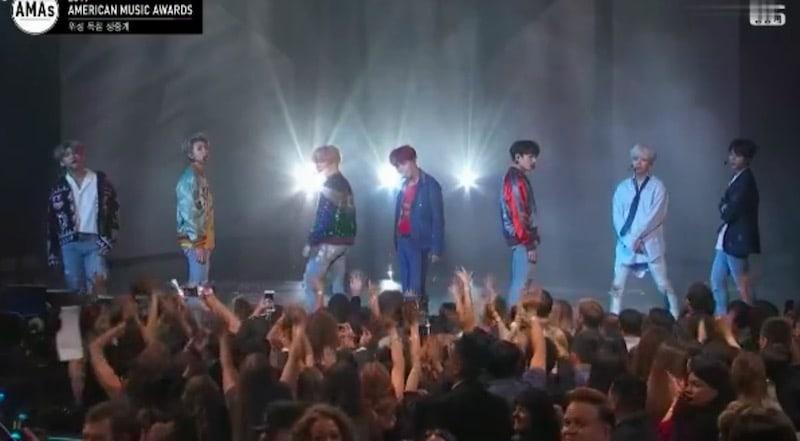 BTS realiza una increíble actuación debut en televisión estadounidense en los 2017 American Music Awards