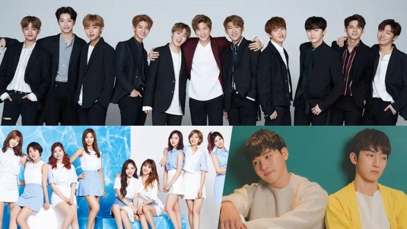 Wanna One, TWICE y MeloMance lideran las listas semanales de Gaon
