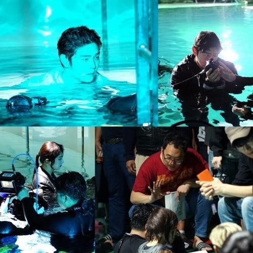 """""""Oh, The Mysterious"""" revela imágenes tras las cámaras de Yoon Kyun Sang y Jung Hye Sung en una escena de acción bajo el agua"""