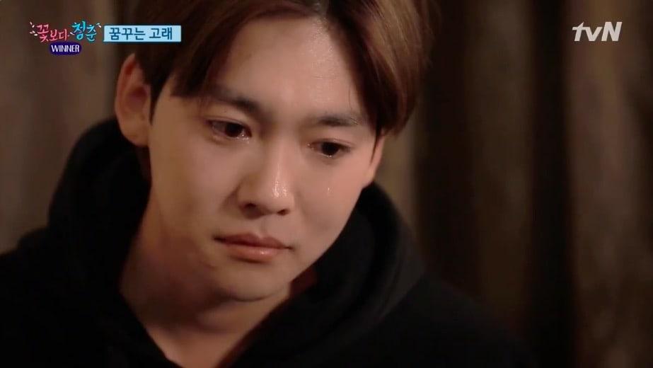Kim Jin Woo llora mientras reflexiona sobre sus preocupaciones pasadas y su rol en WINNER
