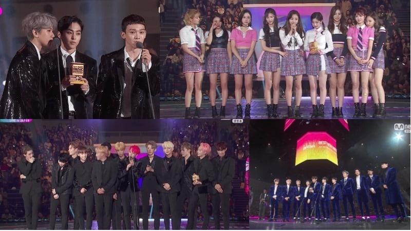 Ganadores de los 2017 Mnet Asian Music Awards (MAMA) en Japón