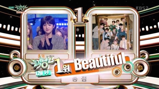 "Wanna One se lleva a casa su quinta victoria con ""Beautiful"" en ""Music Bank"", actuaciones de Rain, KARD, PENTAGON y más"