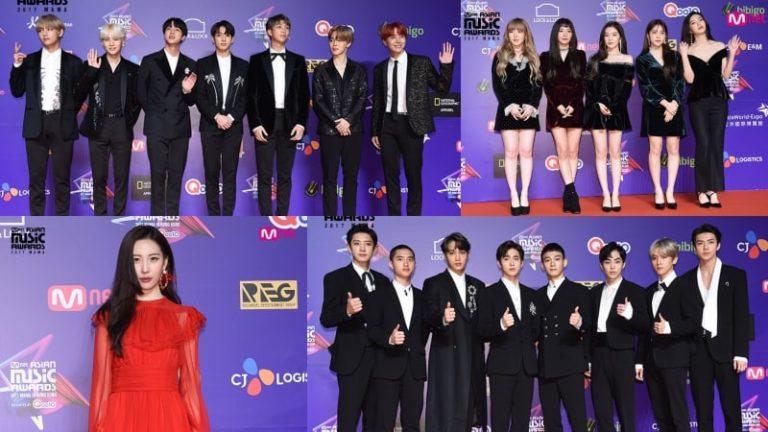Las estrellas brillan en la alfombra roja de los premios 2017 MAMA en Hong Kong