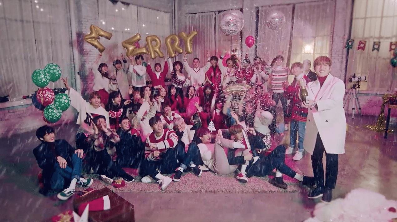"""Los artistas de Starship celebran estas fechas con el MV de """"Christmas Day"""""""