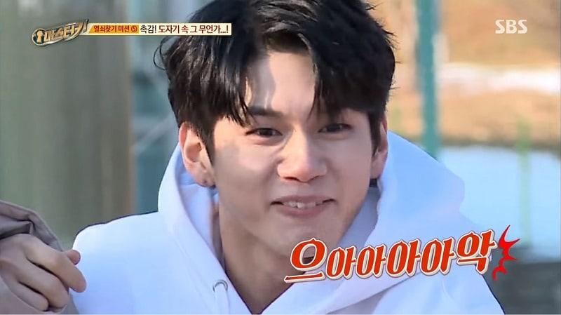 """Ong Sung Woo de Wanna One crea un divertido alboroto durante juego en """"Master Key"""""""