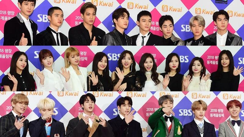 """Estrellas brillan en la alfombra roja del """"2017 SBS Gayo Daejun"""""""