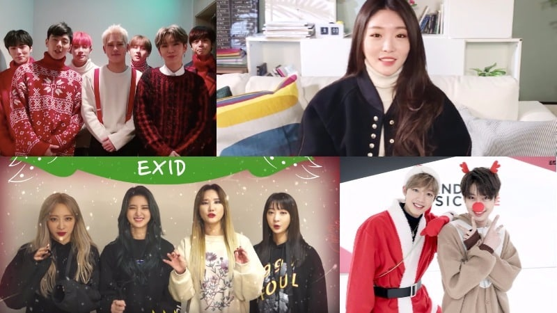 Celebridades coreanas comparten sus felicitaciones navideñas de 2017