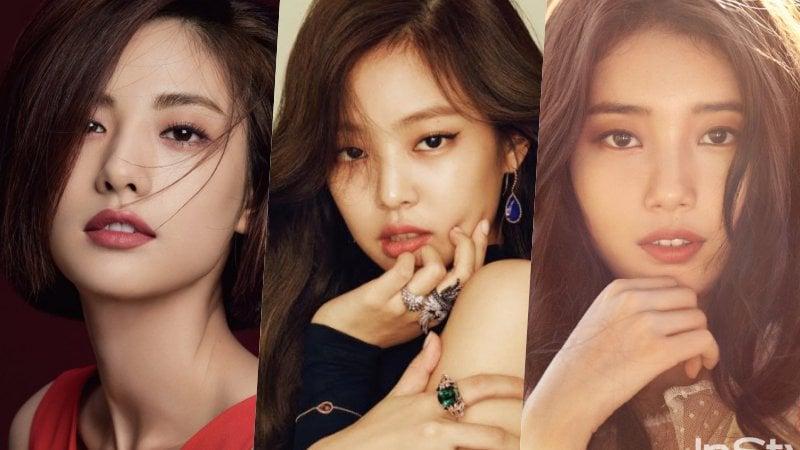 Estrellas coreanas femeninas en la lista de la 100 estrellas con los rostros más bellos de 2017