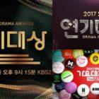 2017 KBS Drama Awards obtiene índices de audiencia más altos que SBS Drama Awards y MBC Gayo Daejejun