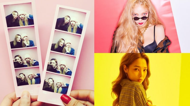HyunA comparte fotos y un vídeo de su divertida reunión con Somin de KARD