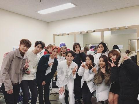 BTOB, PENTAGON y CLC muestran apoyo en el set del MV de Jo Kwon, protagonizado también por Yoo Seon Ho