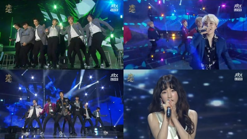 "Super Junior, BTS, EXO, Taeyeon, TWICE y más, cantan en el día 2 de los ""32nd Golden Disc Awards"""