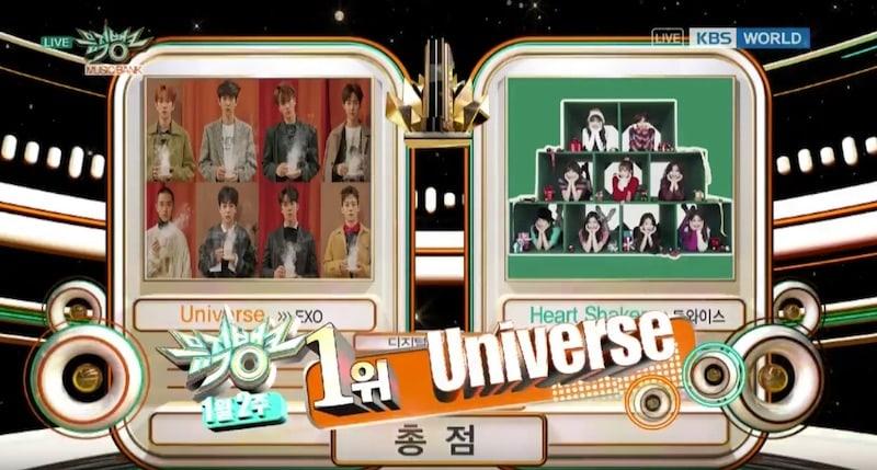 """EXO consigue su tercera victoria con """"Universe"""" en """"Music Bank"""", actuaciones de INFINITE, Block B, Oh My Girl y más"""