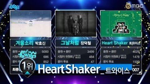 """TWICE logra su 9ª victoria con """"Heart Shaker"""" en """"Music Core""""; Actuaciones de INFINITE, Oh My Girl y Block B, entre otros"""