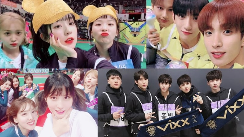"Red Velvet, SEVENTEEN, TWICE, VIXX, entre otros comparten fotos de los ""2018 Idol Star Athletics Championships"""
