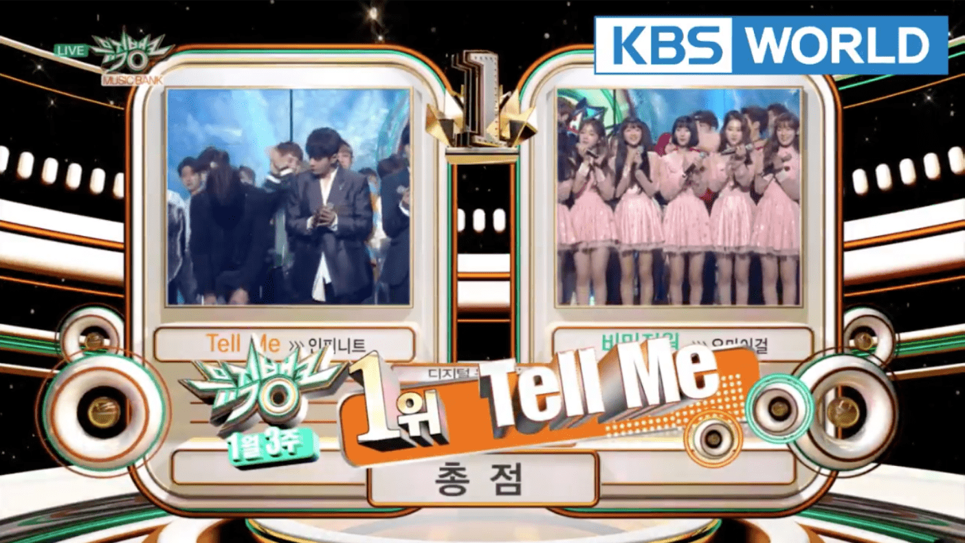 "INFINITE consigue su tercera victoria para ""Tell Me"" en ""Music Bank"""