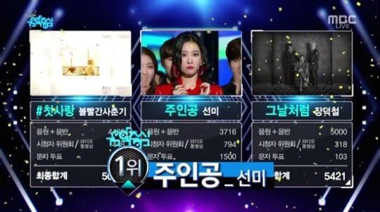"""Sunmi logra su 2ª victoria por """"Heroine"""" en """"Music Core""""; Actuaciones de iKON, Jeong Sewoon, Davichi y más"""