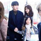 La familia YG y otras grandes estrellas asisten a la boda de Taeyang y Min Hyo Rin