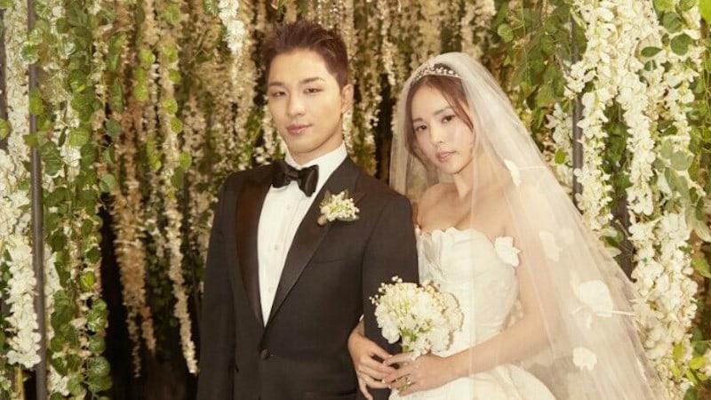 Las agencias de Taeyang y Min Hyo Rin lanzan fotos de la fiesta después de la boda