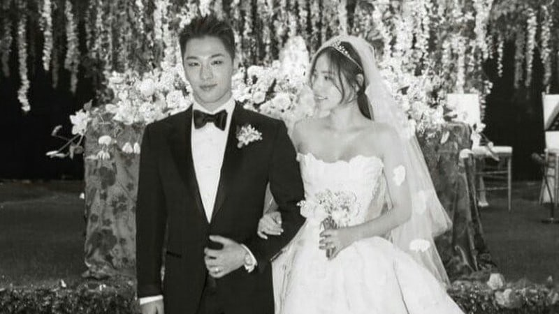 "Taeyang de BIGBANG canta ""Eyes, Nose, Lips"" para Min Hyo Rin en la fiesta posterior a la boda"