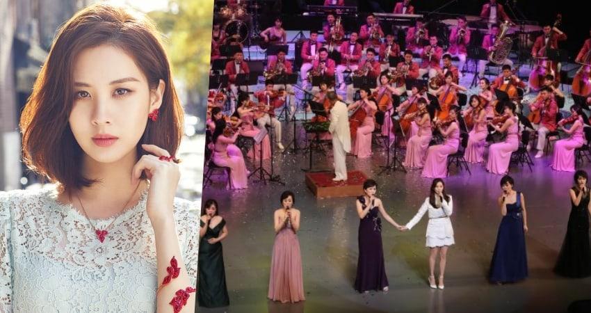 Seohyun de Girls' Generation comparte una emotiva presentación con un conjunto musical de Corea del Norte
