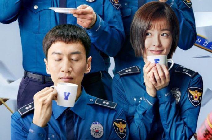 """Lee Kwang Soo y Jung Yoo Mi son policías amigables del vecindario en carteles para """"Live"""""""