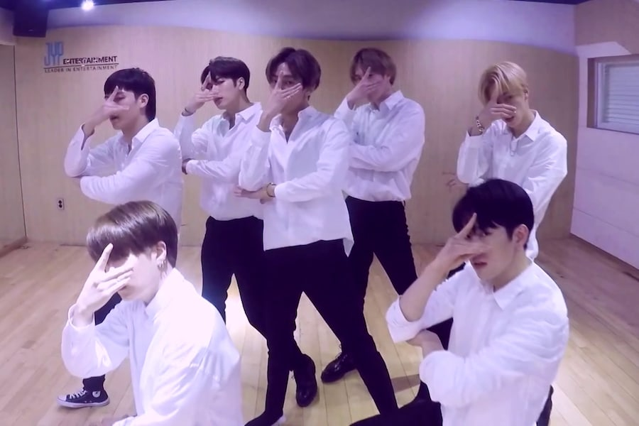 """GOT7 se arregla para la práctica de baile de celebración por los 22 millones de reproducciones del MV de """"Look"""""""