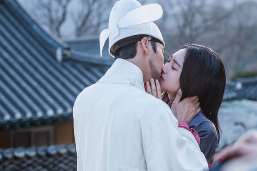 """Yoon Shi Yoon y Jin Se Yeon comparten un lloroso beso en """"Grand Prince"""""""
