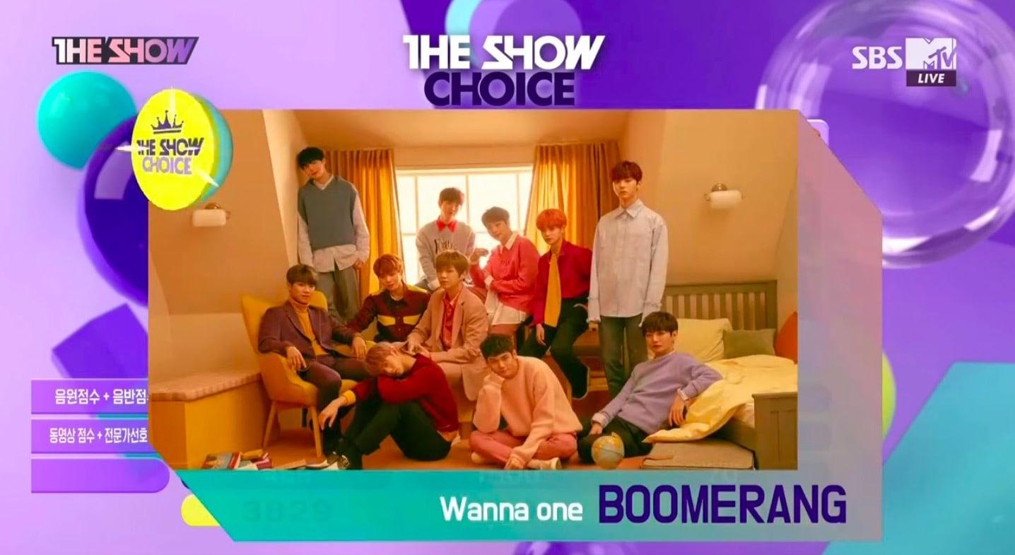 """Wanna One consigue quinta victoria para """"Boomerang"""" en """"The Show"""" con una puntuación perfecta, actuaciones de MONSTA X, Oh My Girl BANHANA y más"""