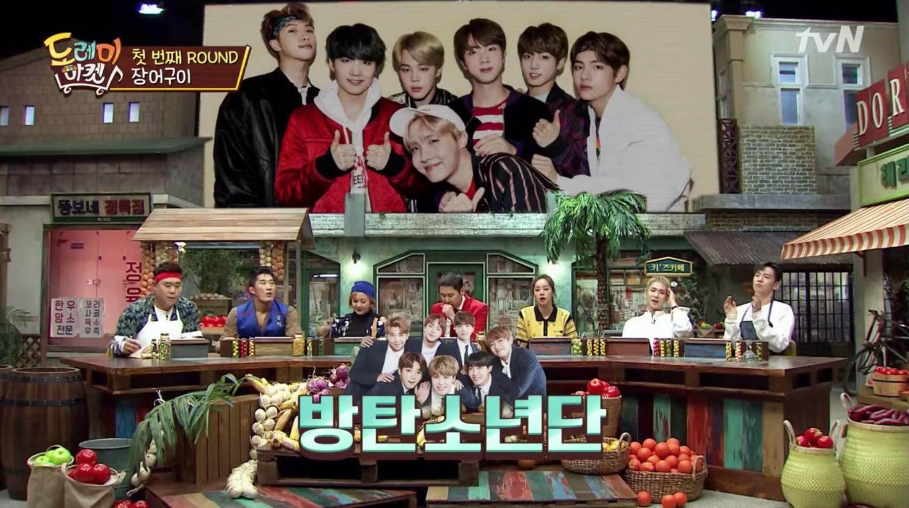 """El reparto de """"Do Re Mi Market"""" adivina la letra de canciones de K-Pop de BTS, Bolbbalgan4 y SEVENTEEN"""