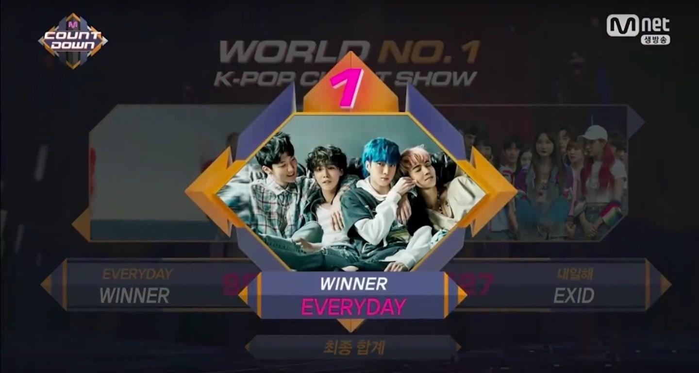 "WINNER obtiene primera victoria para ""Everyday"" en ""M!Countdown"" – Presentaciones de EXO-CBX, TWICE, Super Junior y más"