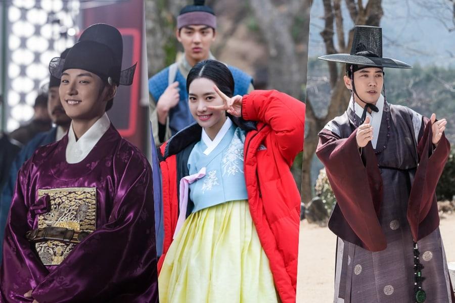 """Yoon Shi Yoon, Jin Se Yeon y Joo Sang Wook energizan al staff de producción de """"Grand Prince"""""""