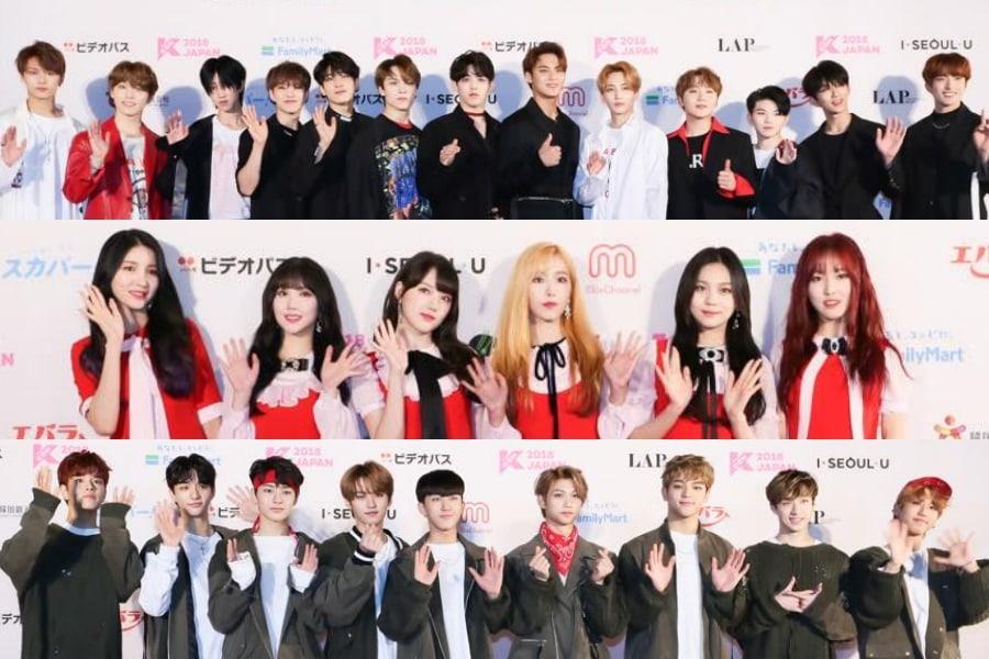 Los ídolos brillan en la alfombra roja en el 2do día del KCON 2018 Japan