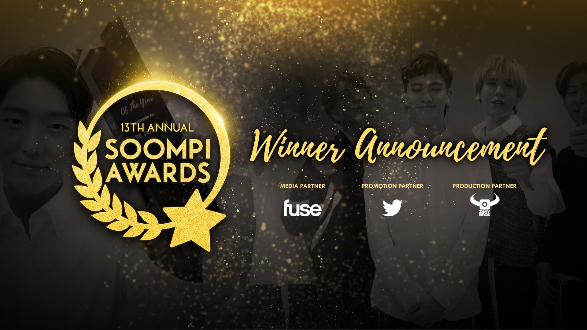 13ª edición anual de los Soompi Awards: Los ganadores
