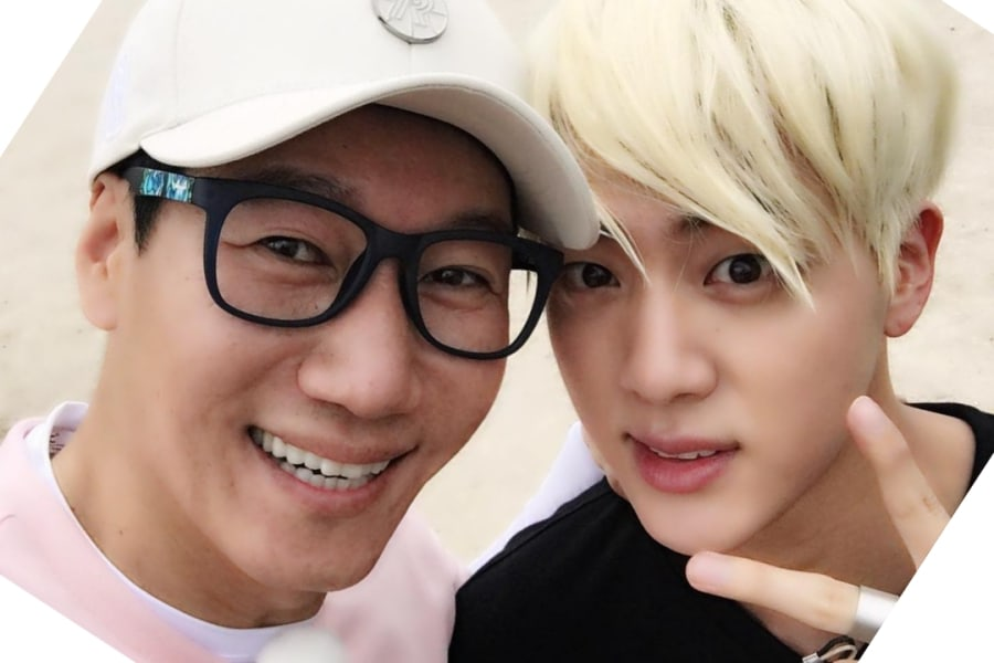 """Jin de BTS y Ji Suk Jin demostraron su amistad en """"Running Man"""""""