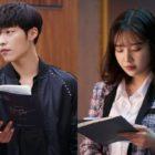 """Woo Do Hwan y Joy de Red Velvet están pegados a sus guiones en detrás de cámaras de """"Tempted"""""""