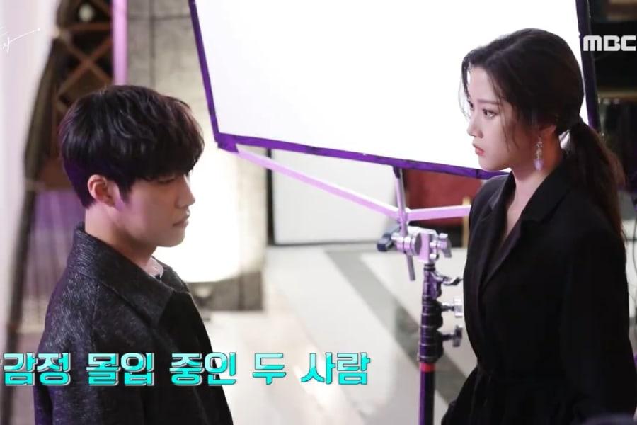 """Woo Do Hwan y Moon Ga Young se enfrentan en el video del detrás de cámaras de """"Tempted"""""""