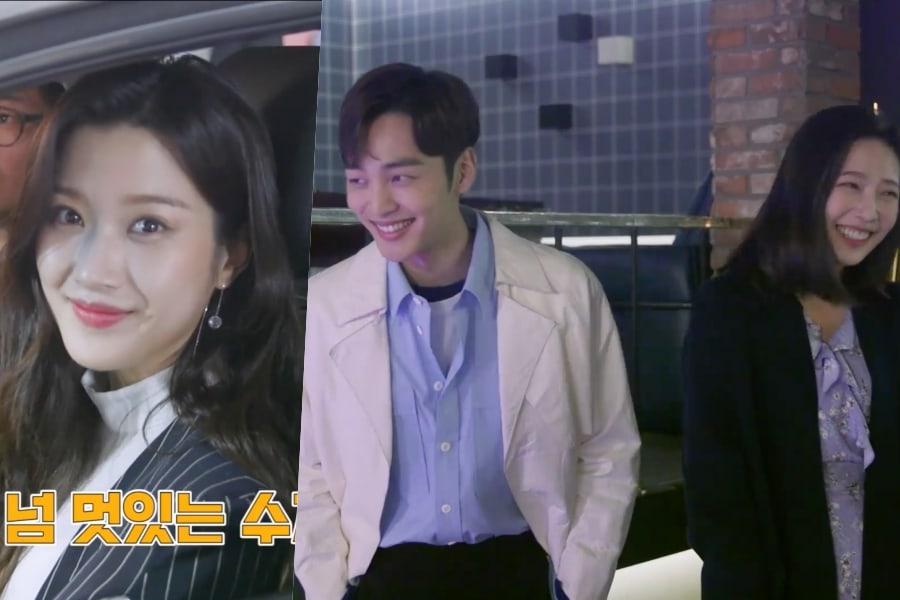 "Moon Ga Young, Kim Min Jae y Joy no paran de reír en detrás de cámaras para ""Tempted"""