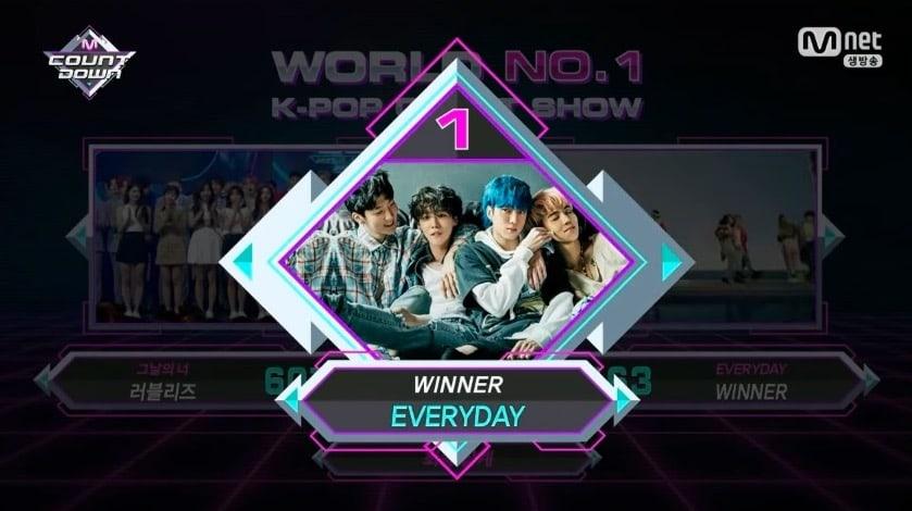 """WINNER obtiene cuarta victoria para """"Everyday"""" en """"M!Countdown"""" – Presentaciones de GFRIEND, PENTAGON, Lovelyz y más"""