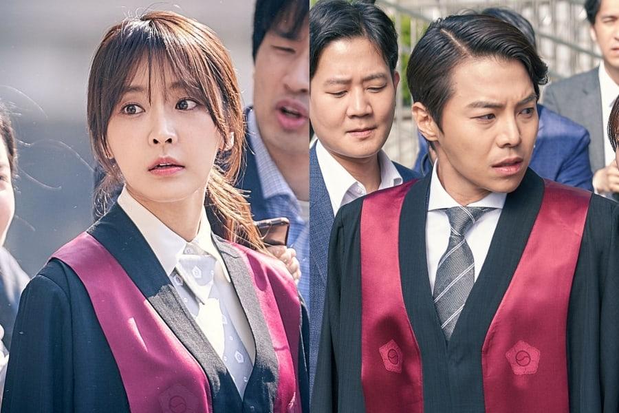 """Jung Yoo Mi y Park Eun Suk se enfrentan a los reporteros en """"Partners For Justice"""""""