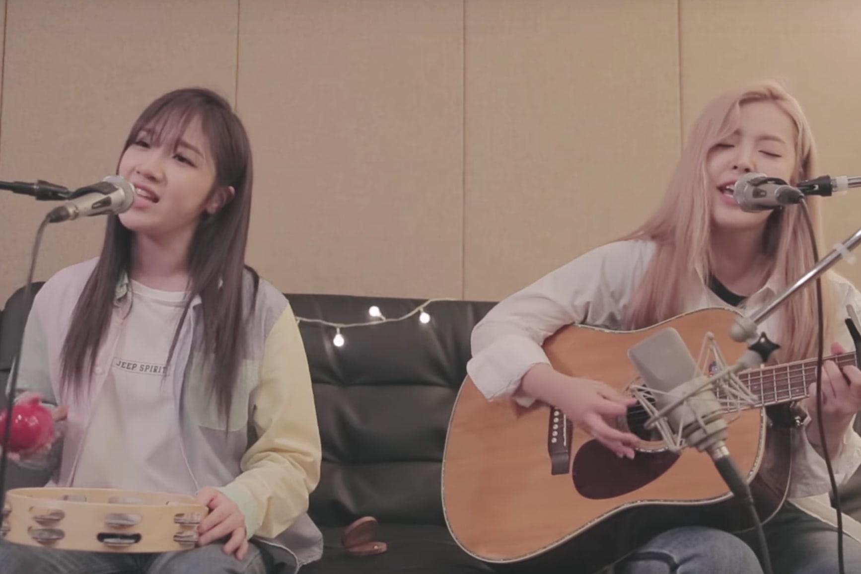 """Euna Kim y Jeon Min Ju impresionan con un cover acústico de """"DNA"""" de BTS"""