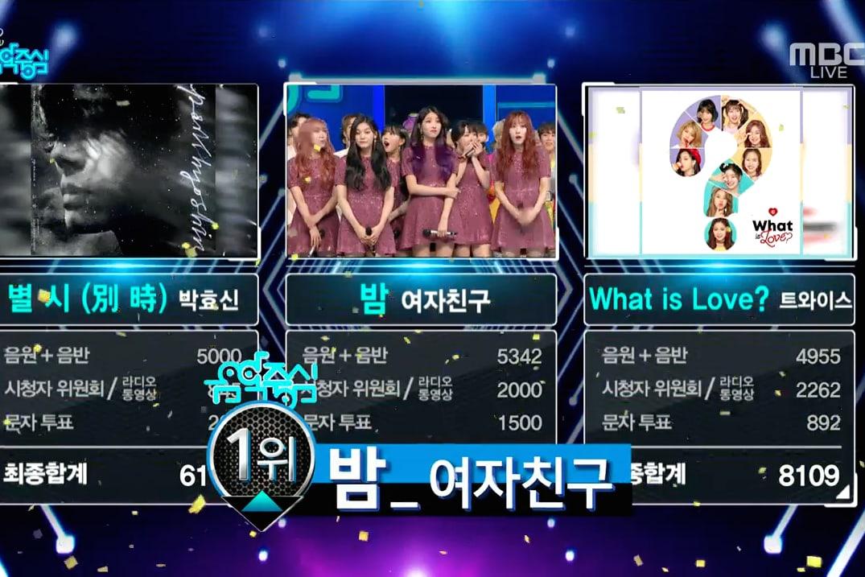 """GFRIEND logra su 5ª victoria por """"Time For The Moon Night"""" en """"Music Core"""". Actuaciones de Yong Junhyung, Teen Top y más"""