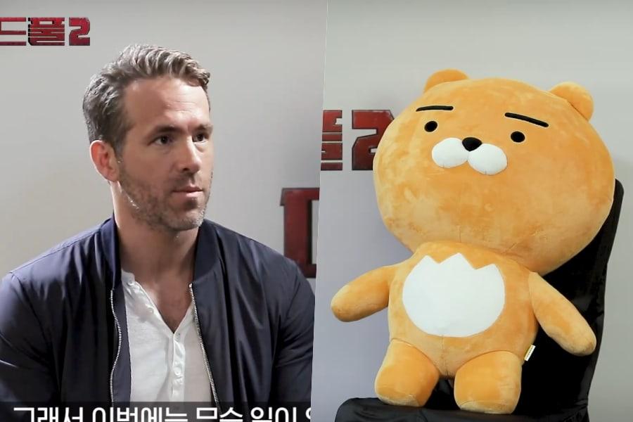 Ryan Reynolds conoce al personaje de Kakao, Ryan, para una entrevista