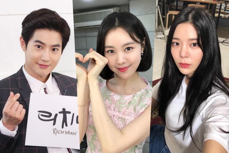 """Jang Jae In envía apoyo a sus amigos Suho de EXO y Kim Ye Won en el plató de """"Rich Man, Poor Woman"""""""