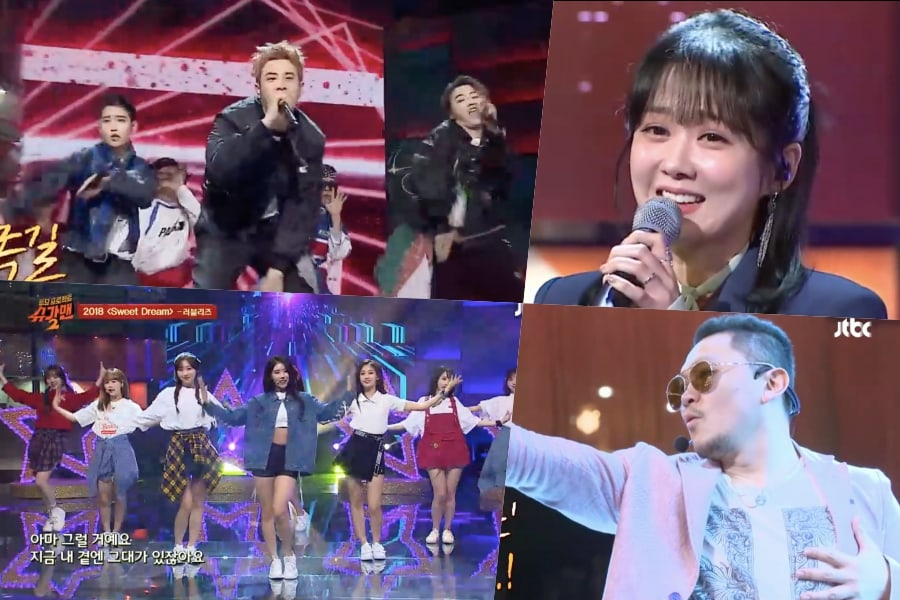 "BASTARZ de Block B, Lovelyz, Jang Nara y Yang Dong Geun cantan temas del pasado en ""Sugar Man 2"""