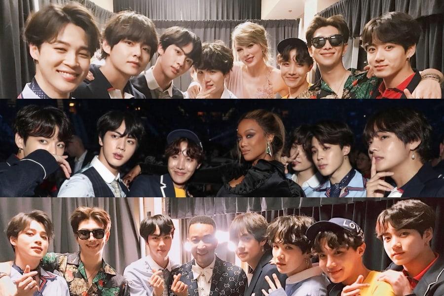 BTS se reúne con varias celebridades internacionales en los Billboard Music Awards